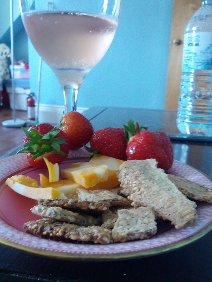 7 Grain Crackers and Wine