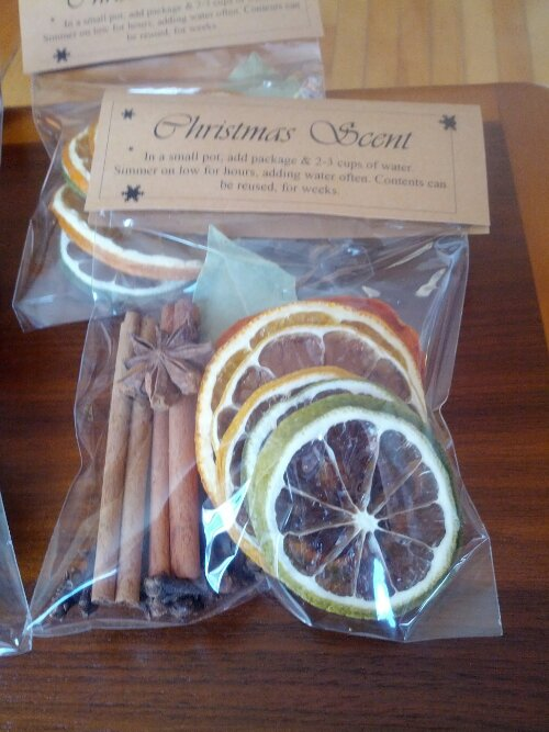 Dehydrated Christmas Scent Bags