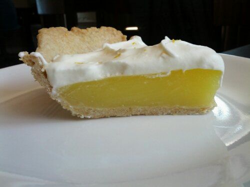 Lemon Pie with Whipped Cream